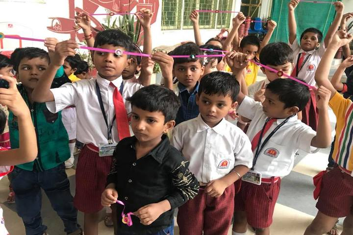 Happy Home English School-Rakhi Making Activity