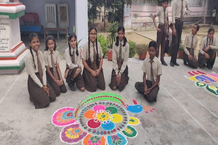 J P S Public School-Rangoli Competition