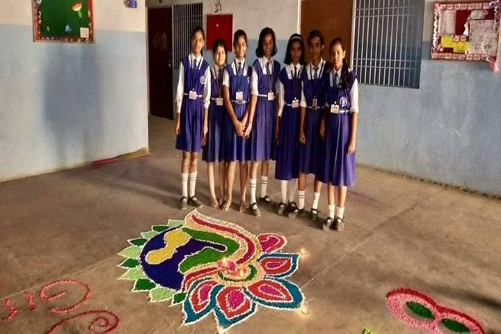 ST Johns Academy-Rangoli Competition