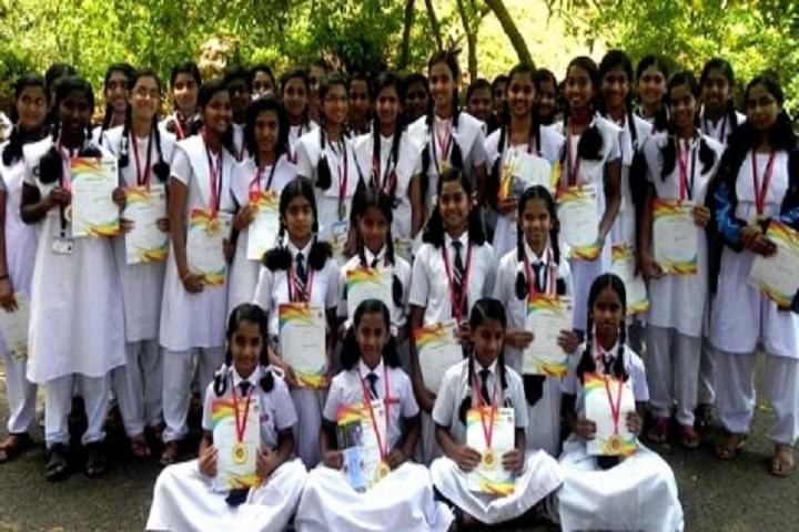 Jawahar Navodaya Vidyalaya-Students with Certificates