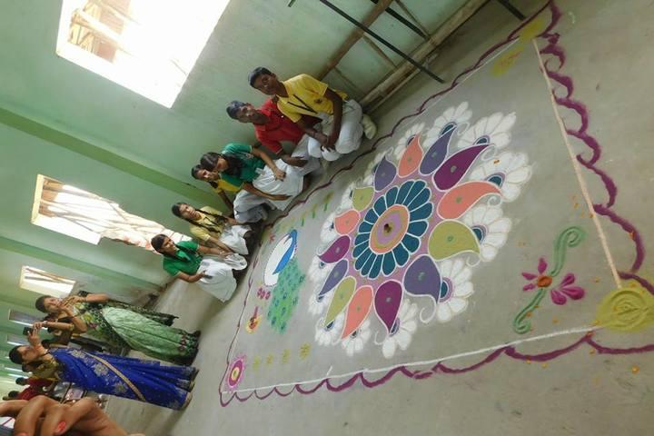 K.V.N. Public School-Rangoli Competition