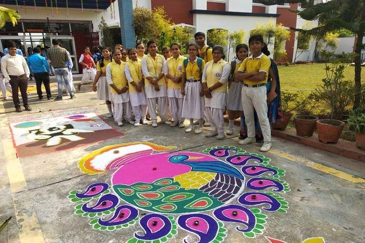 Kalvin Central Academy-Rangoli Competition