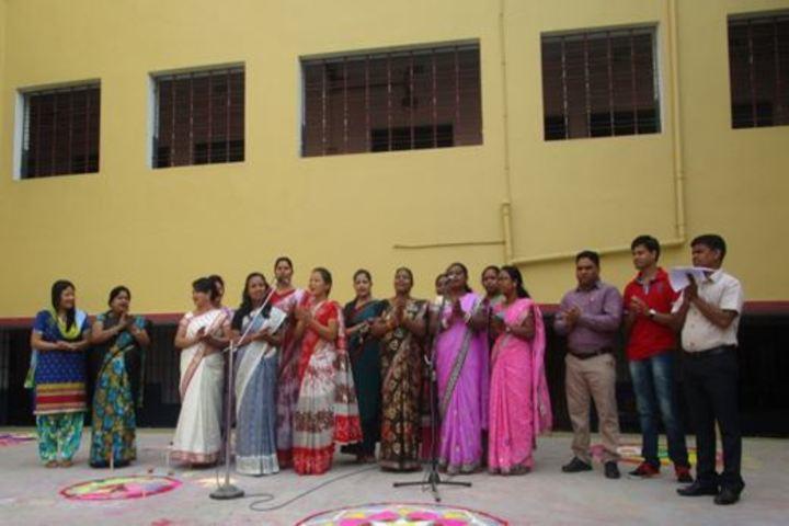 St Peters School English Medium-Rangoli