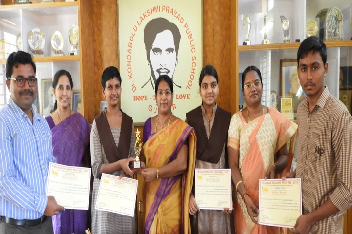 Dr Kondabolu Lakshmi Prasad Public School - Award Receiving