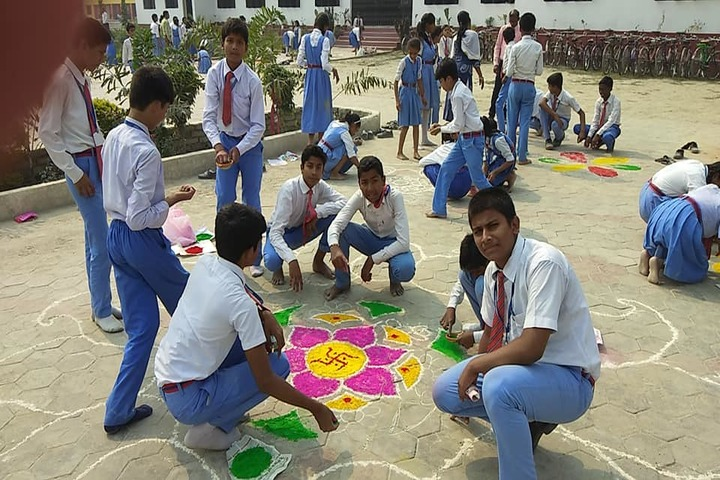 St Xaviers High School-Rangoli