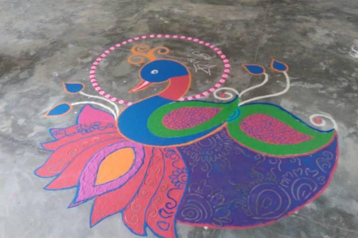 Little Flower Convent School-Rangoli-Competition