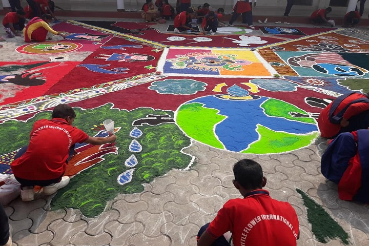 Little Flower International School-Rangoli