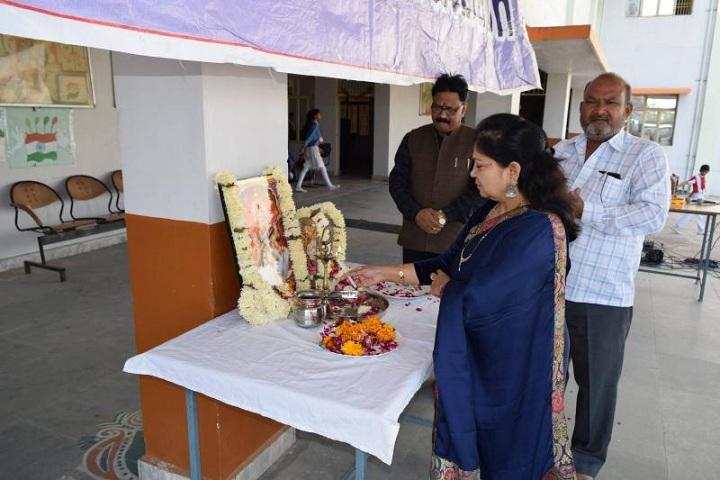 Lord Krishna Public School-Lamping Ceremony