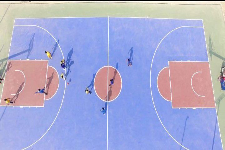 Maa Gayatri Memorial Kaushambi Presidency School-Basketball-Court