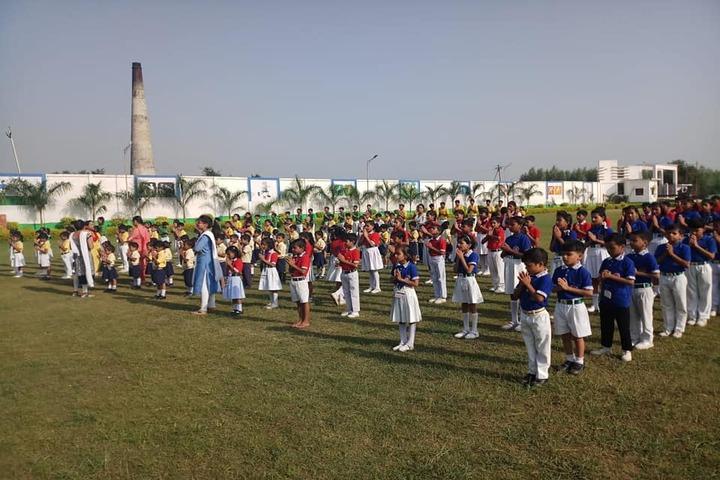 Maa Gayatri Memorial Kaushambi Presidency School-Morning Assembly