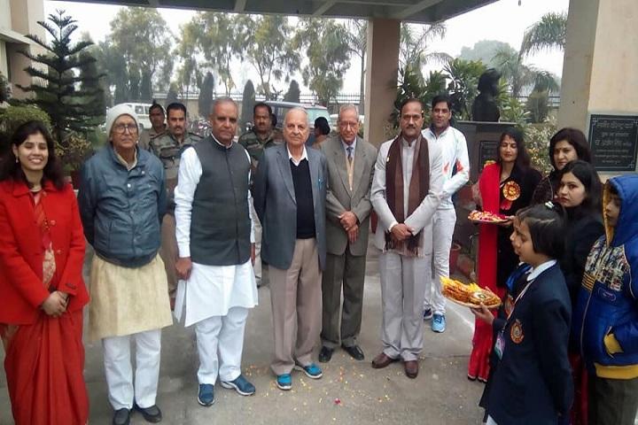Maharaja Surajmal Public School-Greeting Ceremony