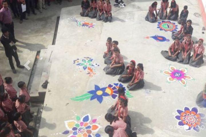 Sutara Mehi Mission School-Rangoli Competition