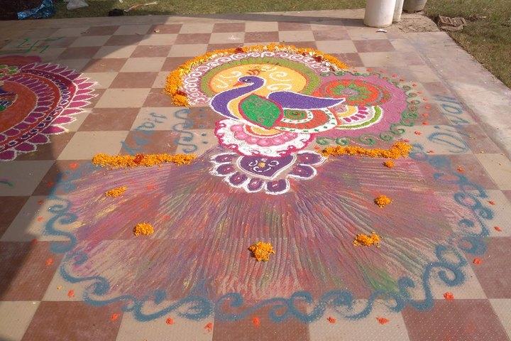 Maharshi Arvind Vidya Niketan-Rangoli