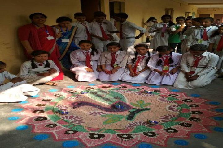 Maharshi Dayanand Children School-Rangoli