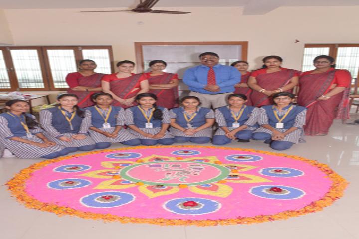 Manas Convent School-Rangoli event