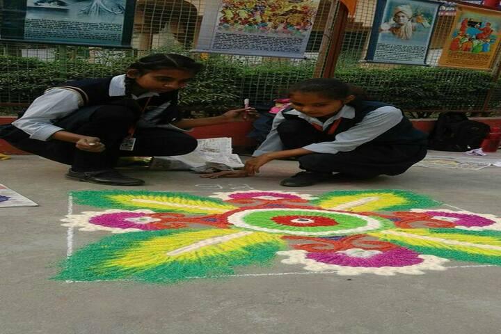 Takshila School-Rangoli Competition