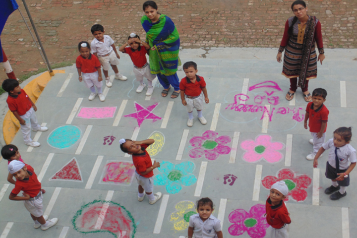 Milton Educational Academy-Rangoli Making