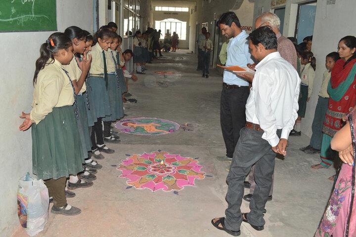 ML Convent School-Rangoli Event