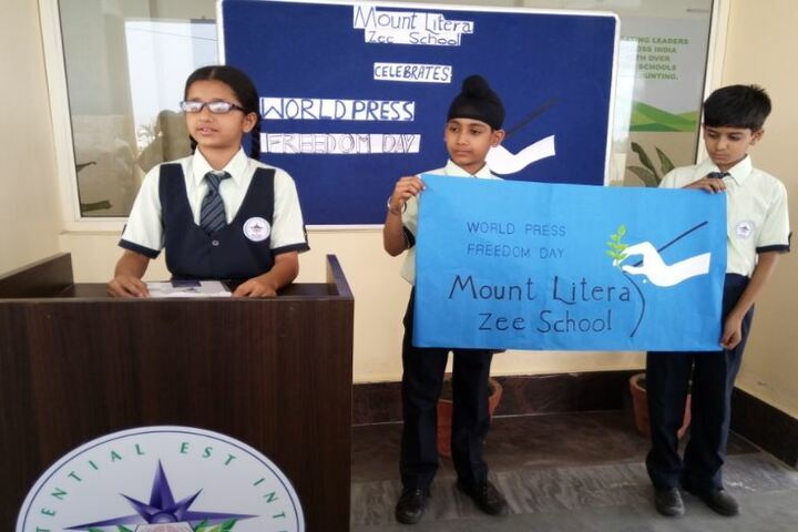 Mount Litera Zee School-World Press Freedom Day