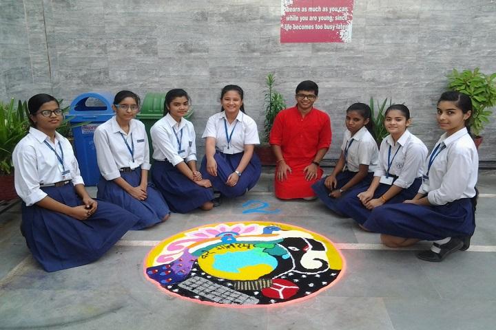 N S Public School-Rangoli Competition
