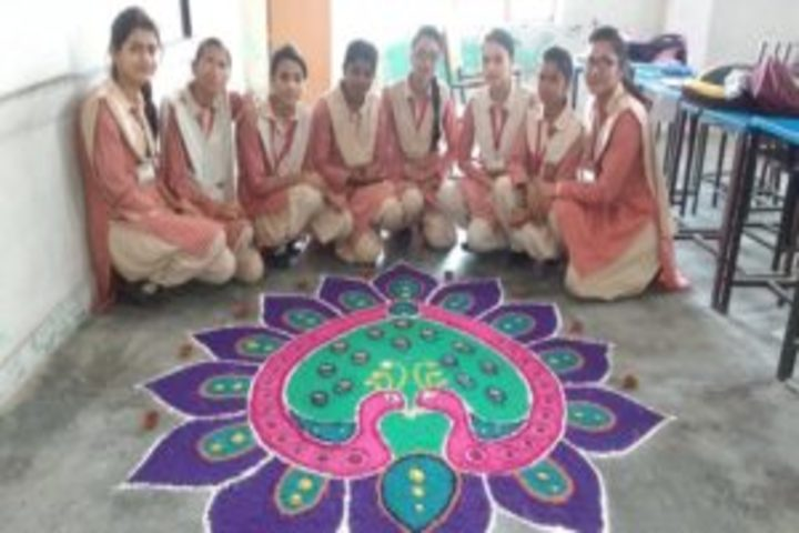 New Era English Academy-Rangoli Competition