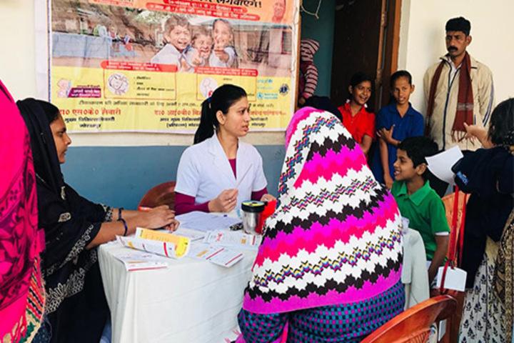 Nidhi Ideal School-Health Checkup Camp