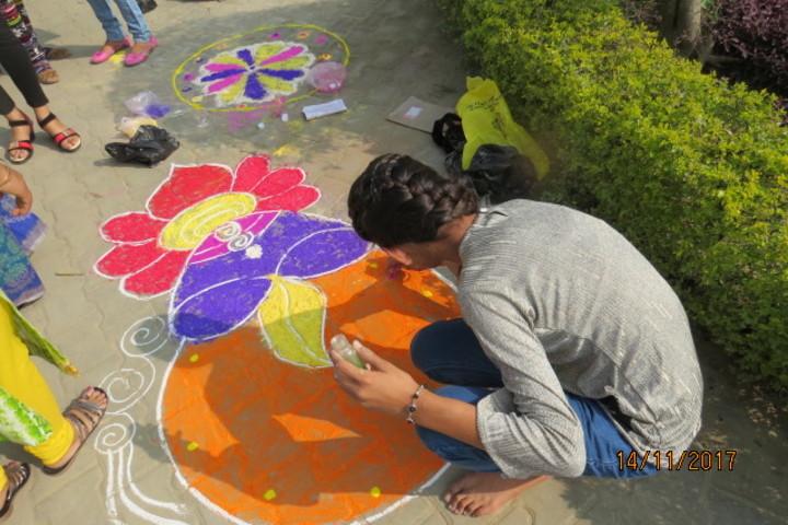 Oxford Public School-Rangoli Competition