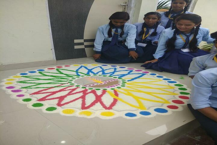 P N National Public School-Rangoli Competition
