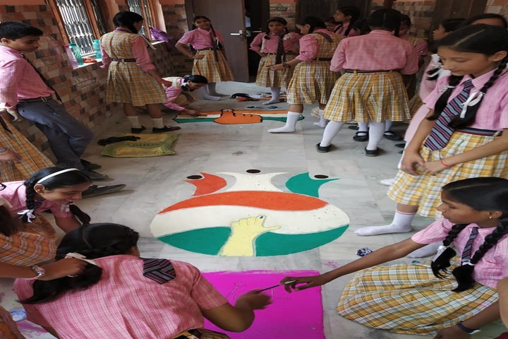 P N Academy-Rangoli Competition