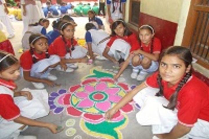 Paradise Public School-Rangoli Competition