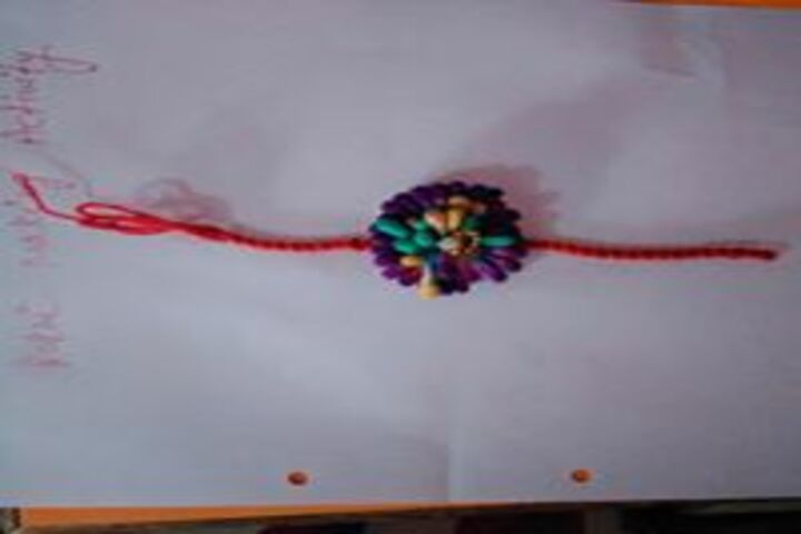 Paras Public School-Rakhi Making Activity