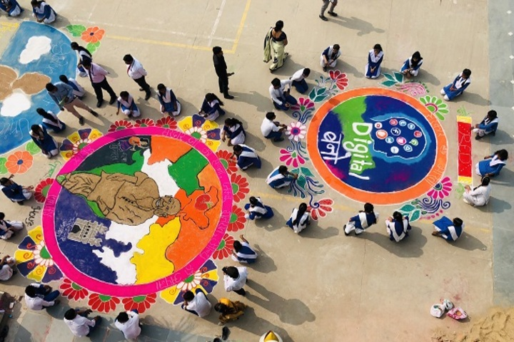 Parvez Khan Sajida Public School - Rangoli Competition