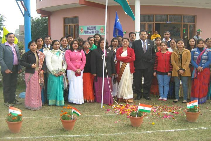 R N International Public School-Flag Hosting