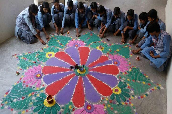 Rajnish Convent School-Rangoli