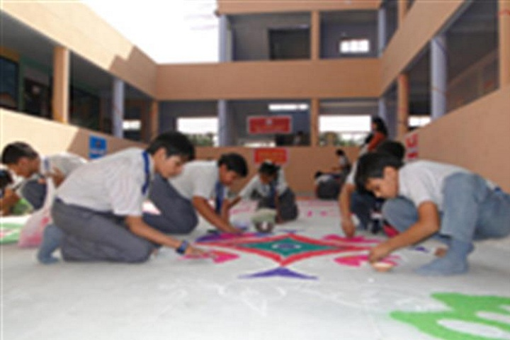 Divya Public School-Rangoli