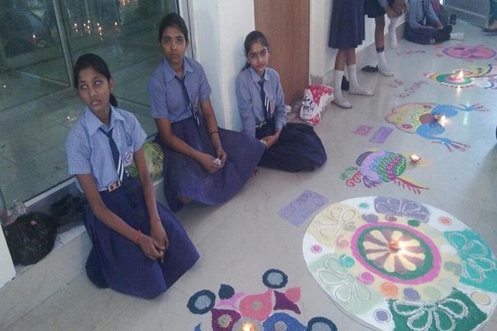 S S Kanhaiya Lal Aggarwal Memorial Bal Vidya Mandir-Rangoli Competition