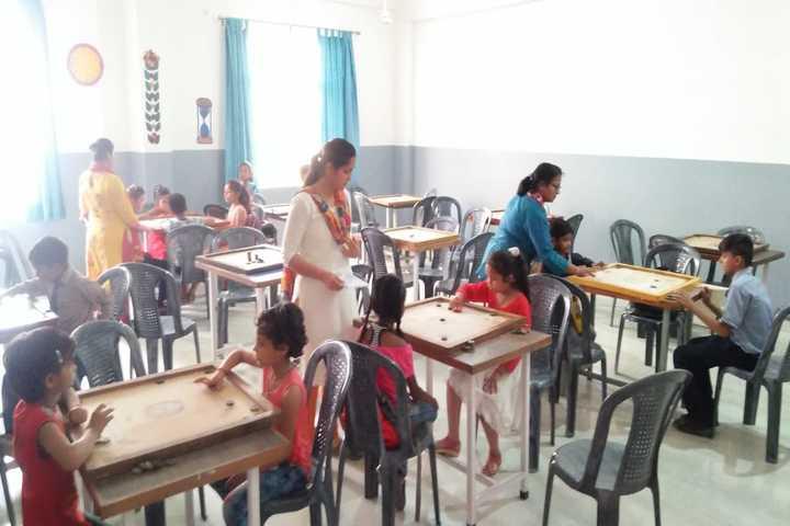 S R Global School- Carrom game