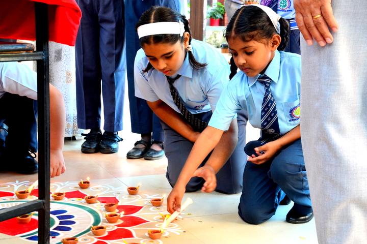 S R International School-Rangoli