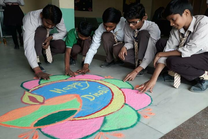 S S S Gurukul School- Rangoli Competition