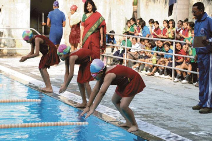 Seth M R Jaipuria School-Swimming