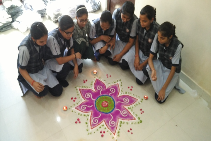 Shanti Devi Memorial Public School-Rangoli Event