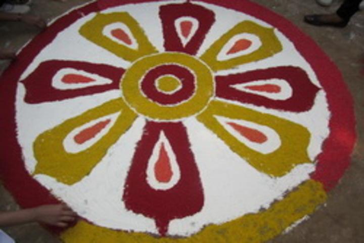Shri Bihari Lal Kushwaha Memorial Oxford English School-Rangoli Event