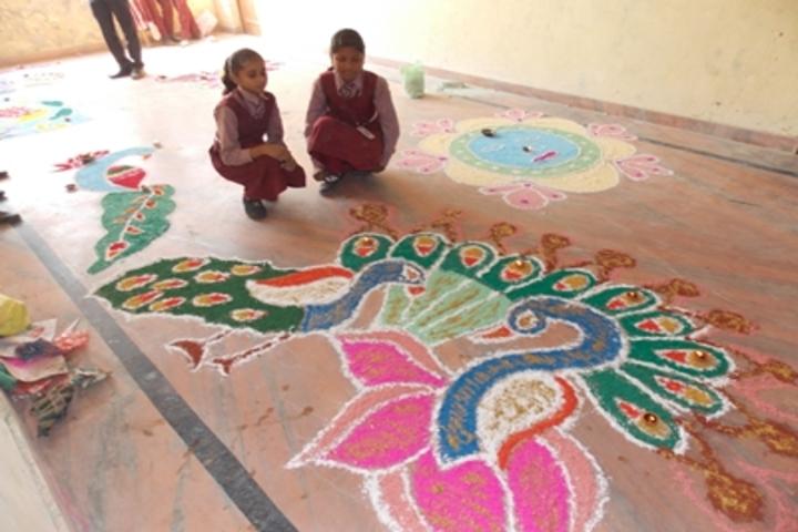 Shri Sai Public School-Rangoli Competition