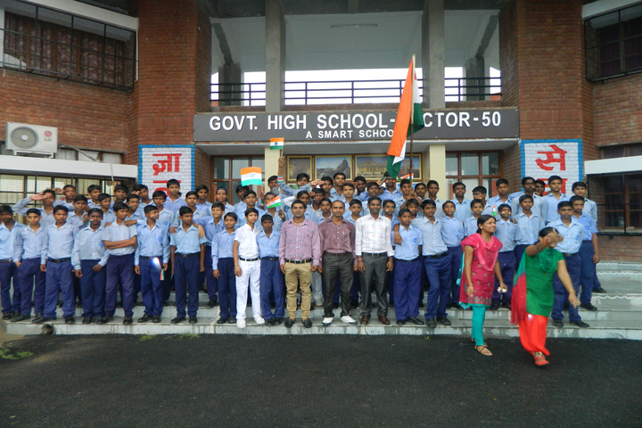 Government High School A Smart School-Independance Day Celebration