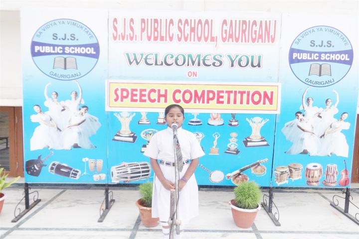 S J S Public School-Speech Competition