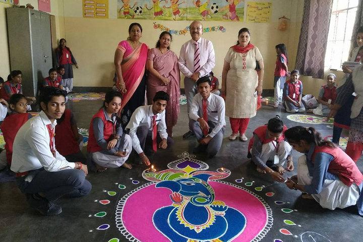 Smt. Kamla Agarwal Public School-Rangoli Competiotion