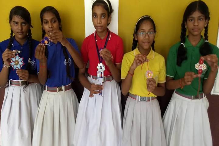 St Joseph School-Rakhi Making Competition