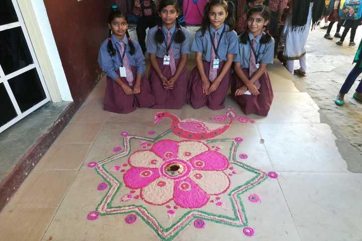 St Joseph School-Rangoli Competition