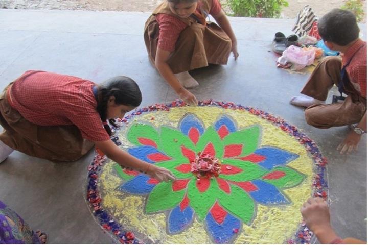 St Pauls School-Rangoli Competition
