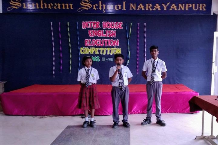 Sunbeam School-Elocution Competition